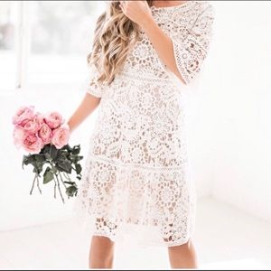 Crochet lace dress size M